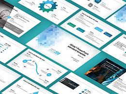 蓝色马赛色简洁清晰开题报告 PPT模板下载