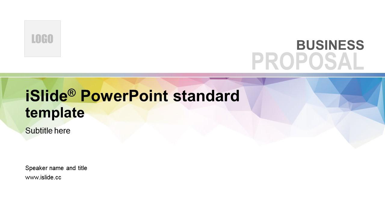彩色晶格簡約抽象風學校課件 PPT模板下載_預覽圖1