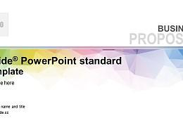 彩色晶格簡約抽象風學校課件 PPT模板下載