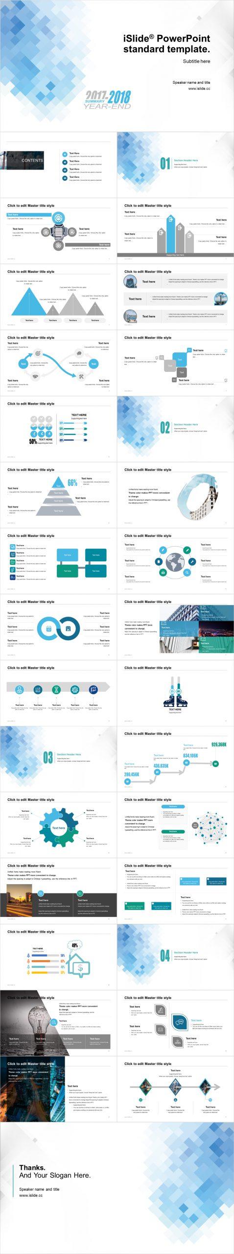 藍色馬賽色簡潔清晰開題報告 PPT模板下載_預覽圖2