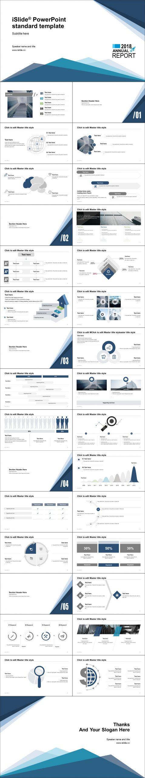 蓝色简约线条开题报告iSlide PPT模板下载_预览图2