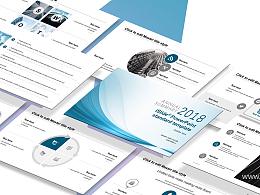 藍色簡約線條開題報告 PPT模板下載