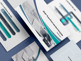 辦公場景時尚商務風述職報告iSlidePPT模板下載