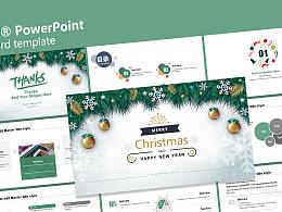庆典节日之圣诞节主题PPT模板下载