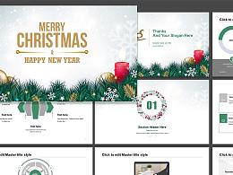 圣诞节庆典节日主题PPT模板下载