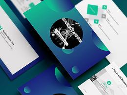 时尚欧美风摇滚乐队介绍PPT模板下载