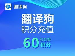 翻译狗积分购买60积分优惠促销Word、excel、Pdf文献论文文档翻译神器
