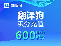 翻译狗积分购买600积分优惠促销Word、excel、Pdf文献论文文档翻译神器