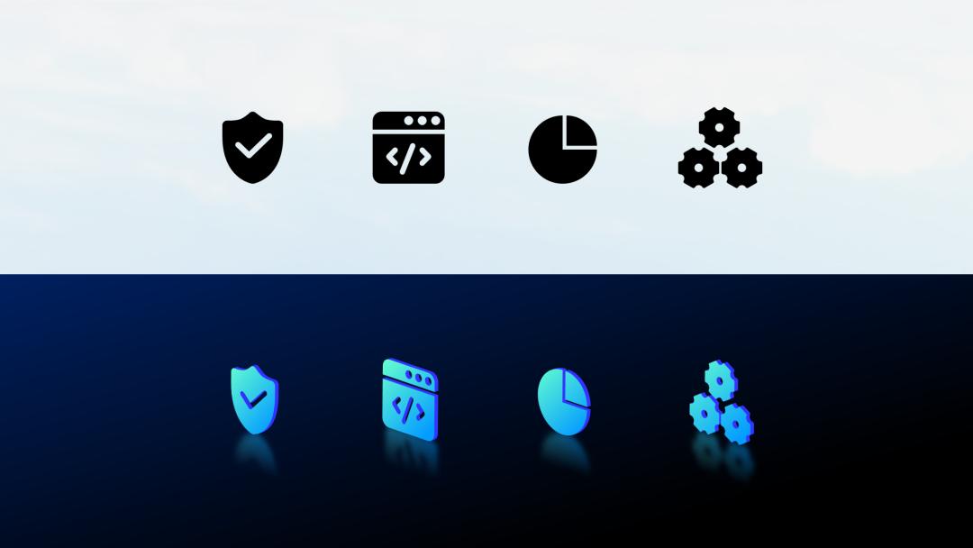 邵大,為啥微軟的這張PPT中,加上圖標能變的這么洋氣?